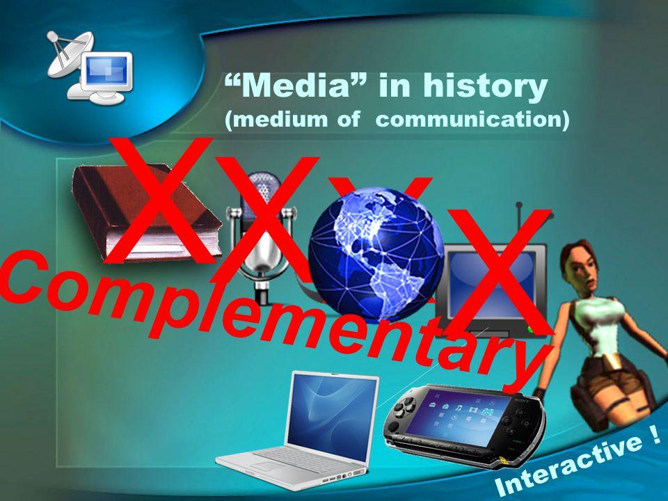 Media in history (medium of communication)