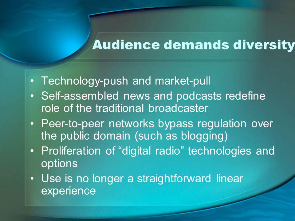 Audience demands diversity