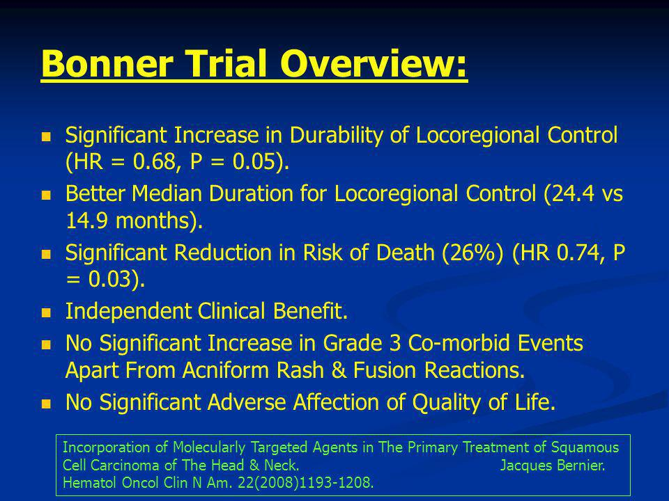 Bonner Trial Overview:
