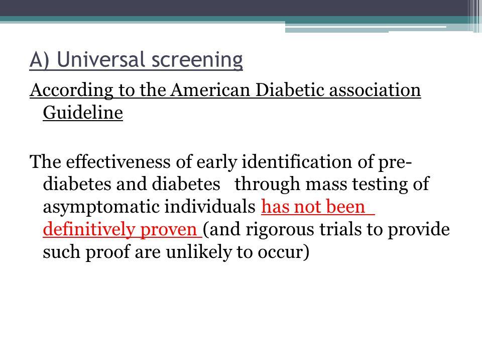 A) Universal screening