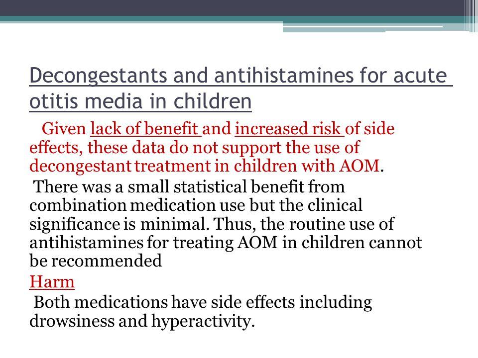 Decongestants and antihistamines for acute otitis media in children