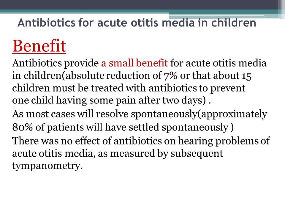 Antibiotics for acute otitis media in children