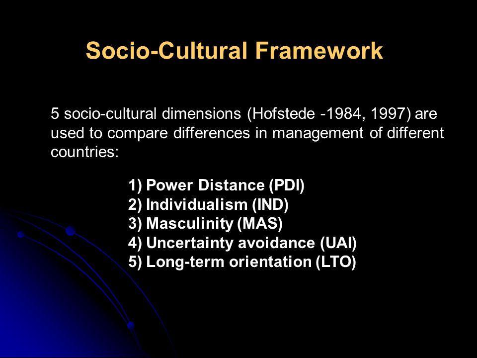 Socio-Cultural Framework
