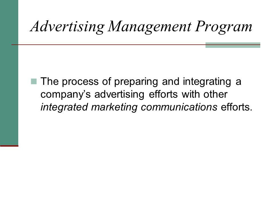 Advertising Management Program