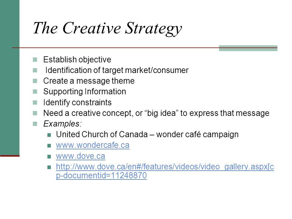 The Creative Strategy Establish objective