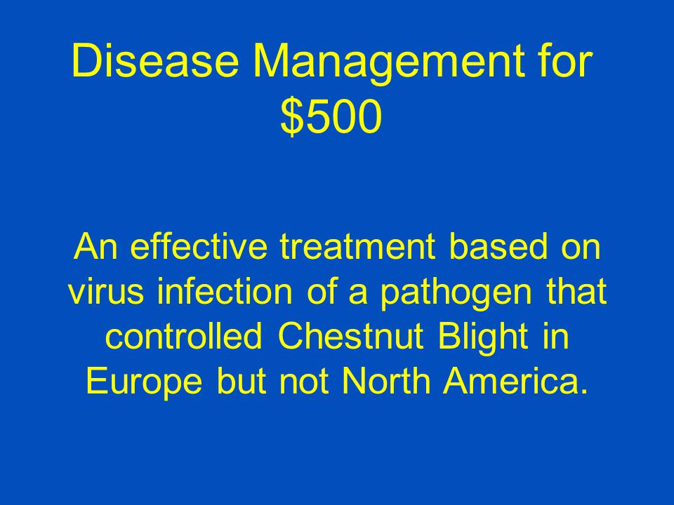 Disease Management for $500