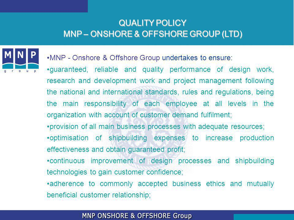 MNP – ONSHORE & OFFSHORE GROUP (LTD)