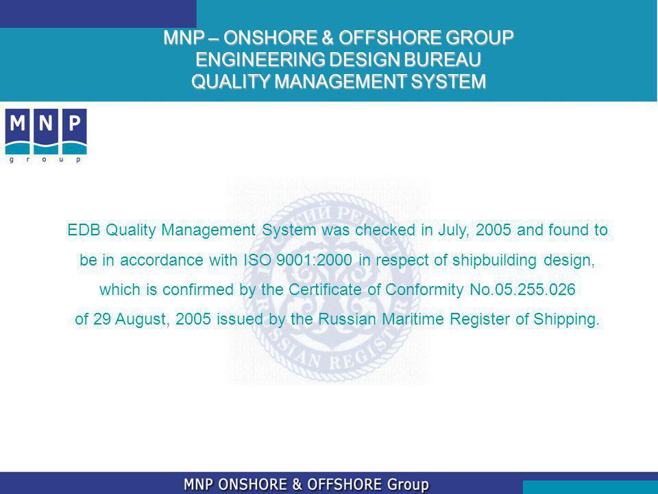 MNP – ONSHORE & OFFSHORE GROUP ENGINEERING DESIGN BUREAU QUALITY MANAGEMENT SYSTEM