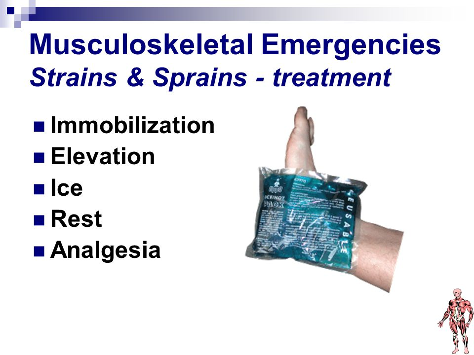 Musculoskeletal Emergencies Strains & Sprains - treatment