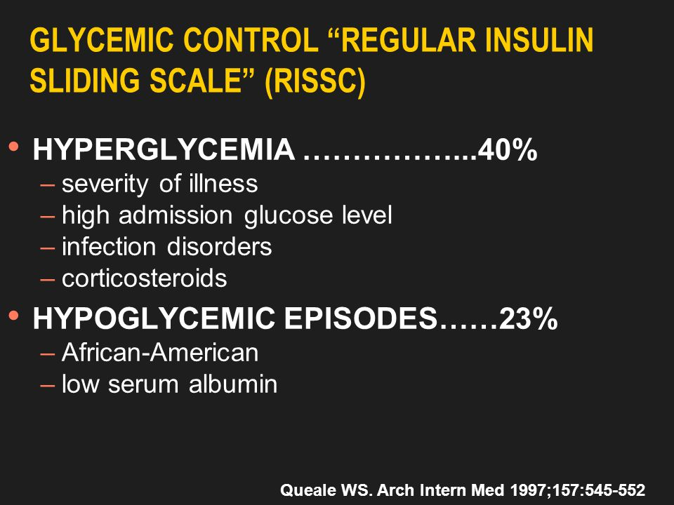 Glucose and insulin in T2DM and acute illness