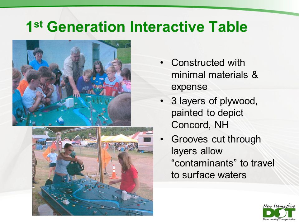1st Generation Interactive Table