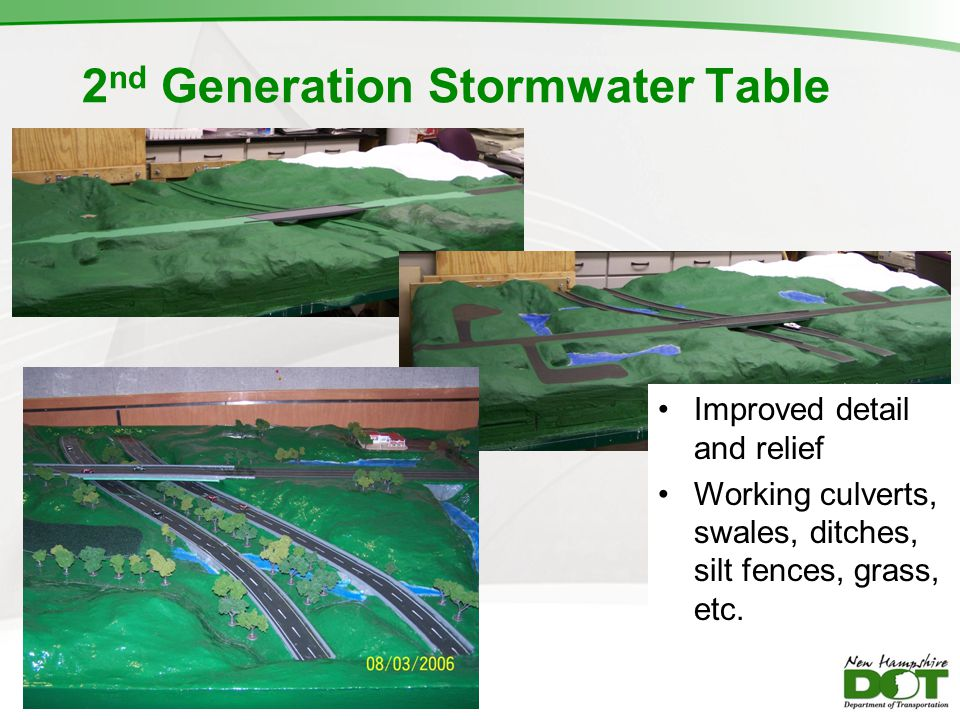 2nd Generation Stormwater Table
