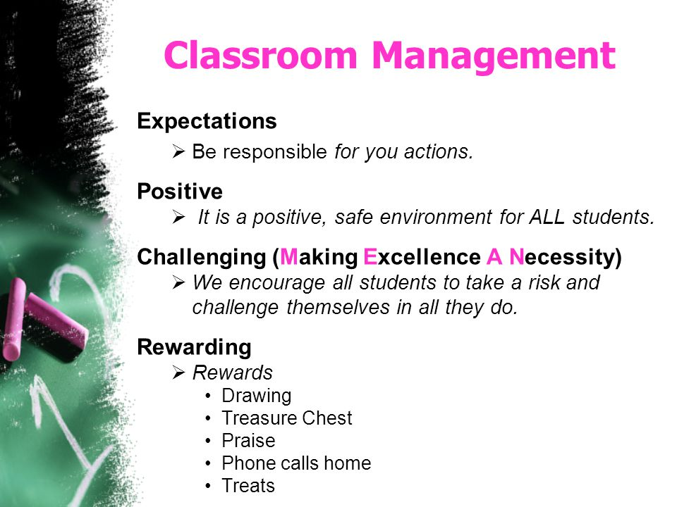 Classroom Management Expectations Positive