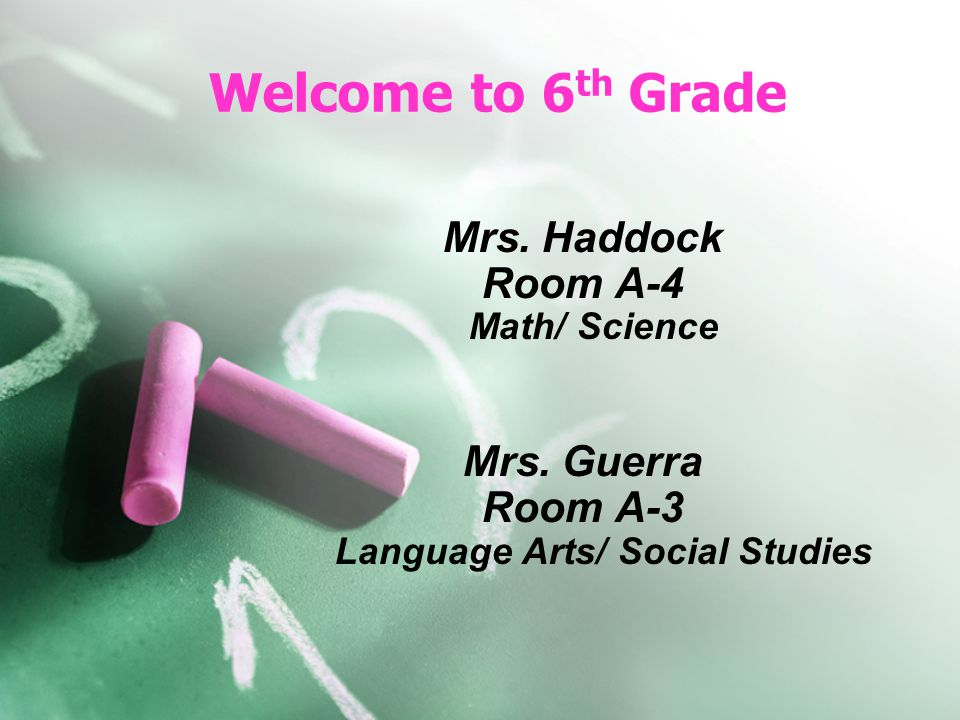 Room A-3 Language Arts/ Social Studies