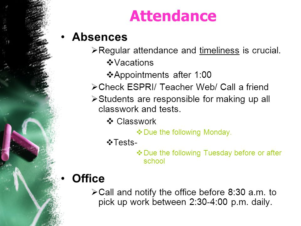 Attendance Absences Office