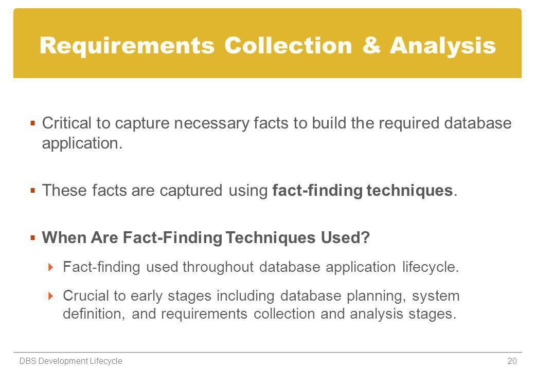 Requirements Collection & Analysis