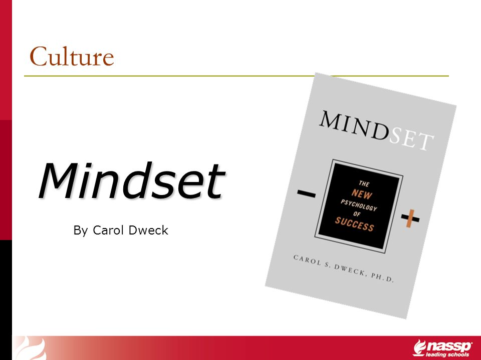 Culture Mindset. By Carol Dweck.