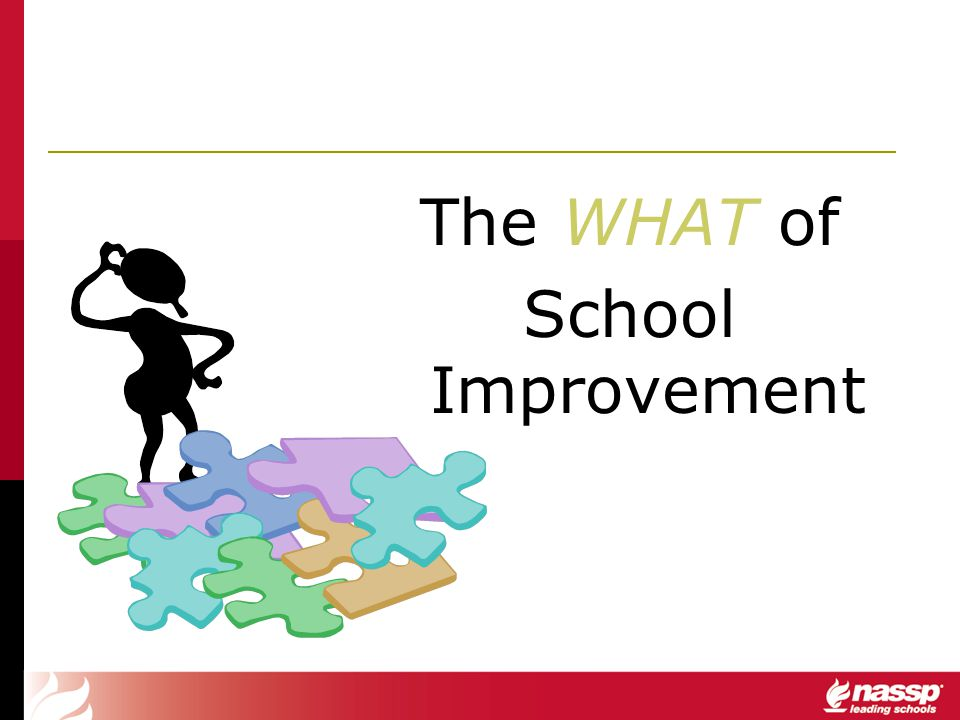 The WHAT of School Improvement