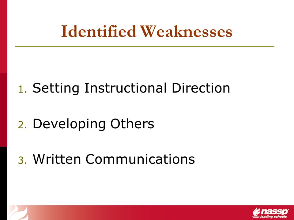 Identified Weaknesses