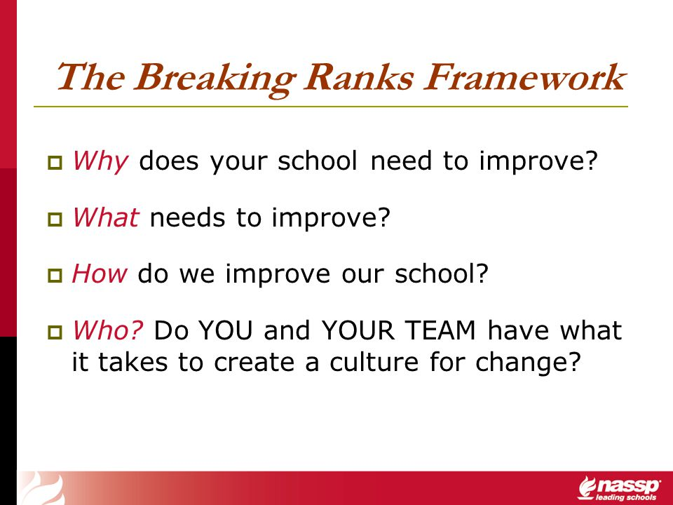 The Breaking Ranks Framework