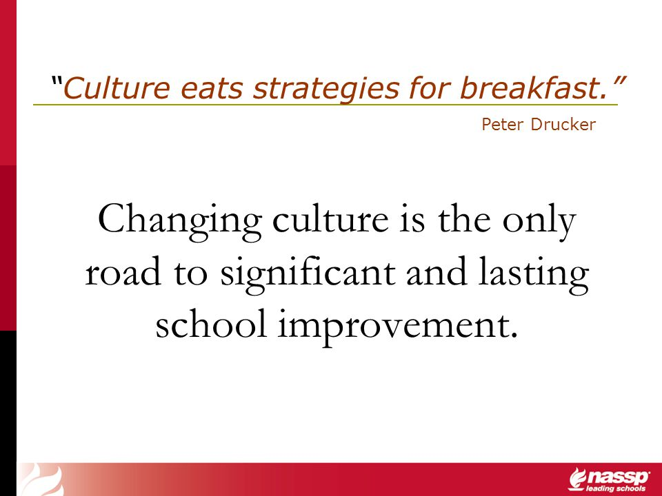 Culture eats strategies for breakfast.