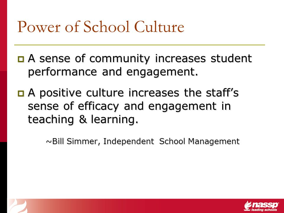 Power of School Culture