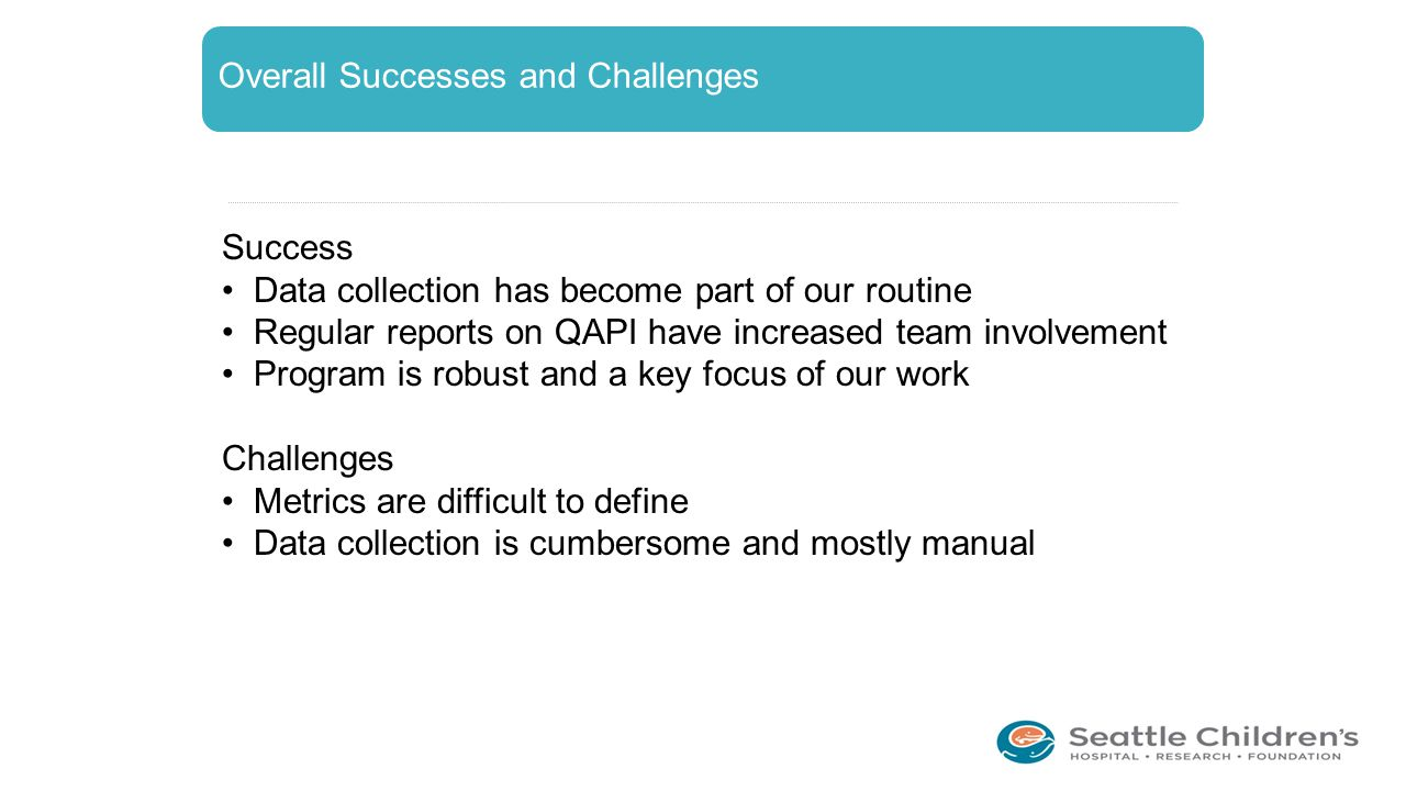 Overall Successes and Challenges