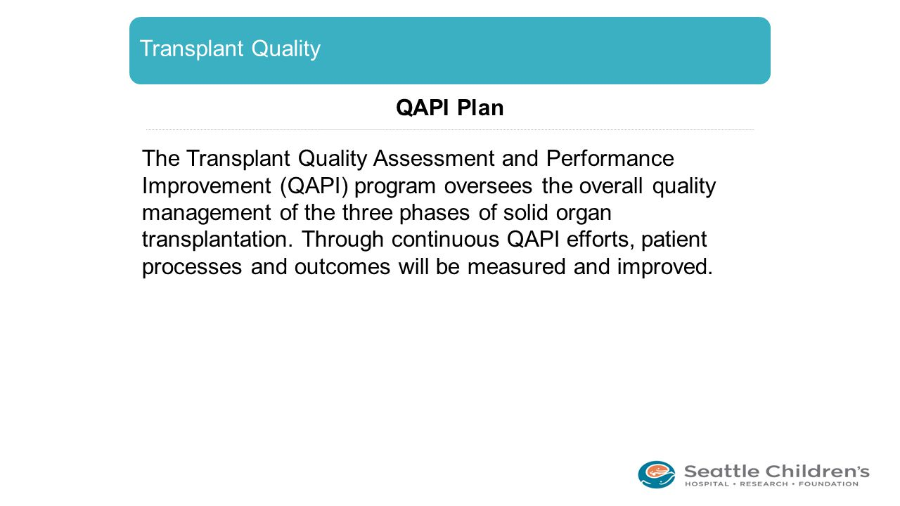 Transplant Quality QAPI Plan.