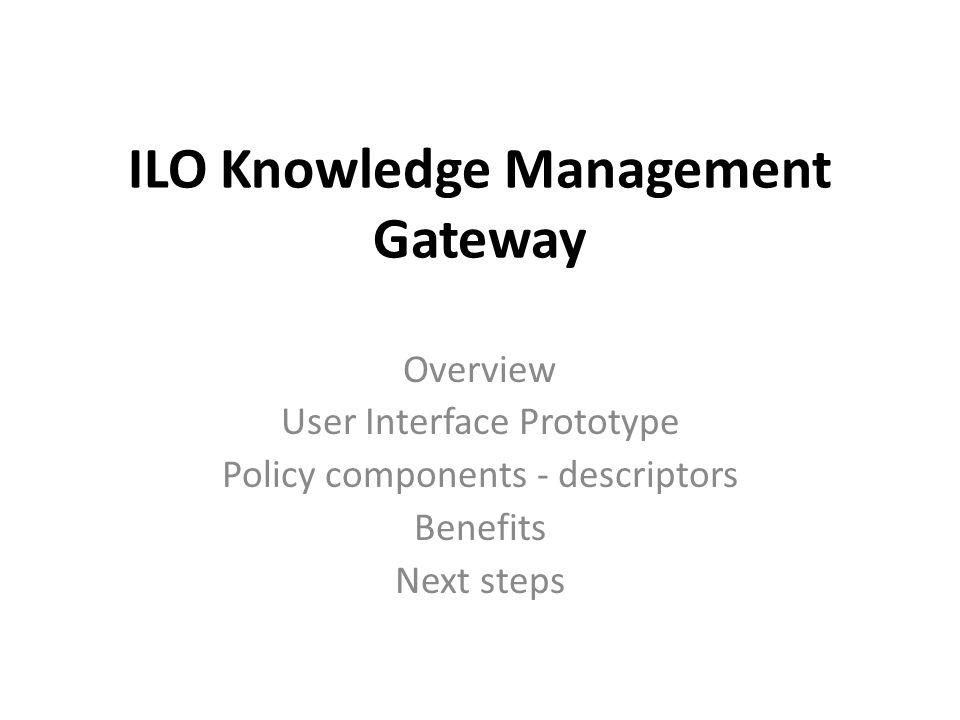 ILO Knowledge Management Gateway
