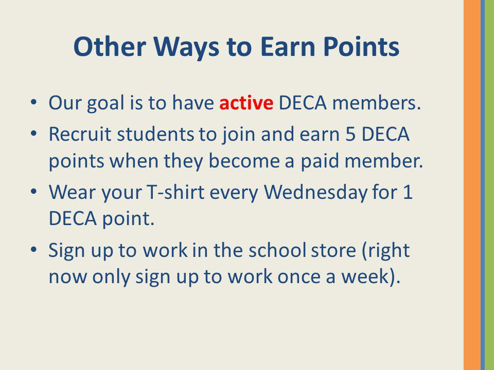 Other Ways to Earn Points