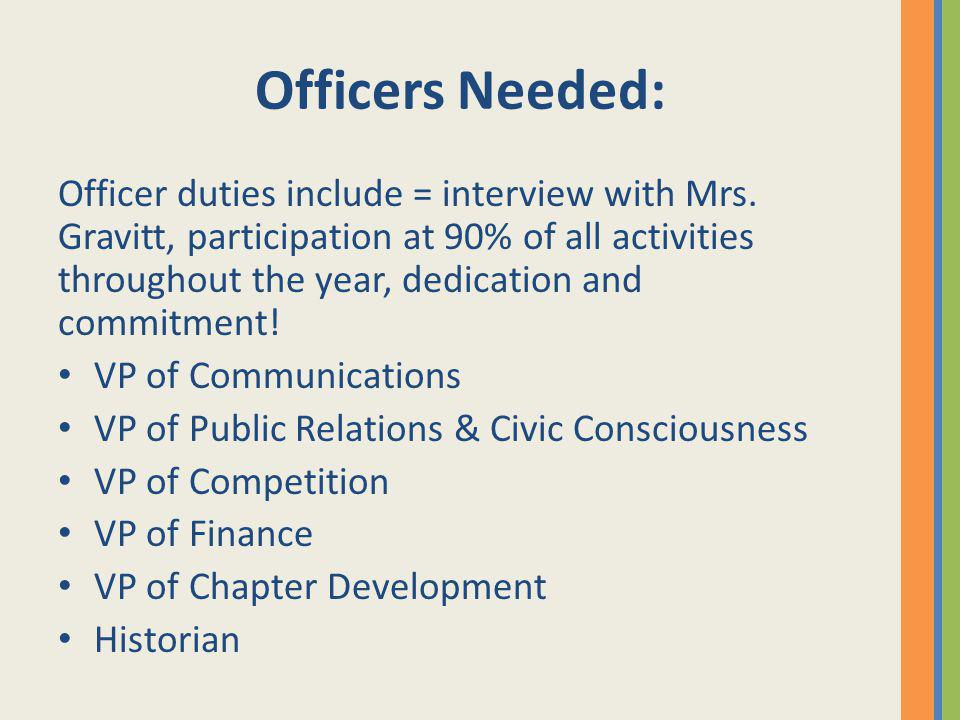 Officers Needed: