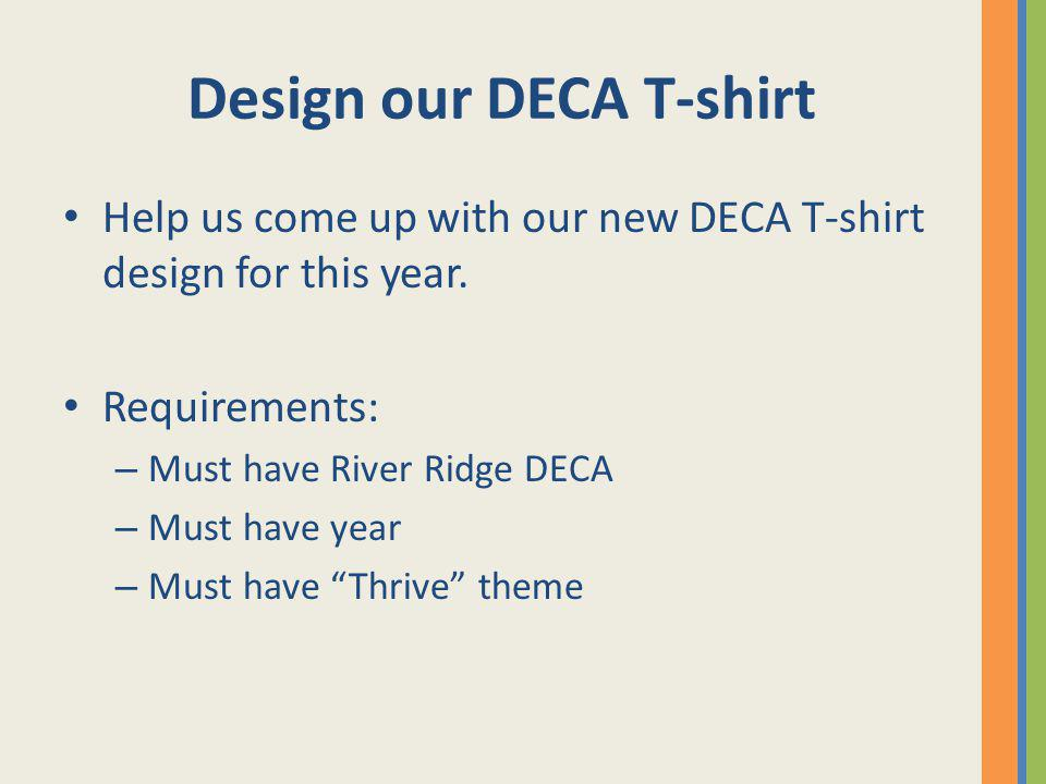 Design our DECA T-shirt