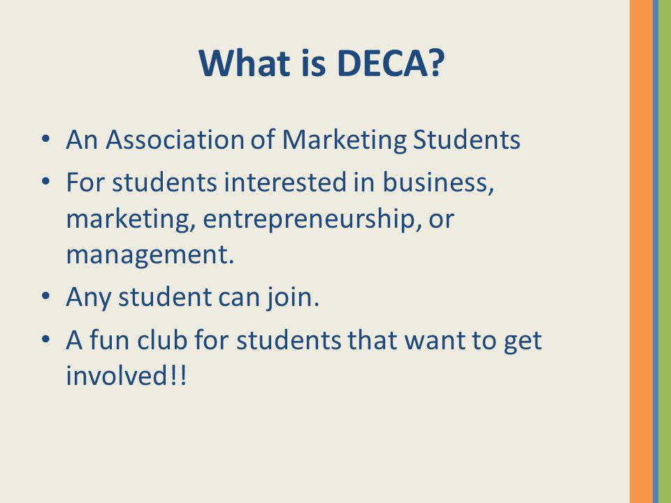 What is DECA An Association of Marketing Students