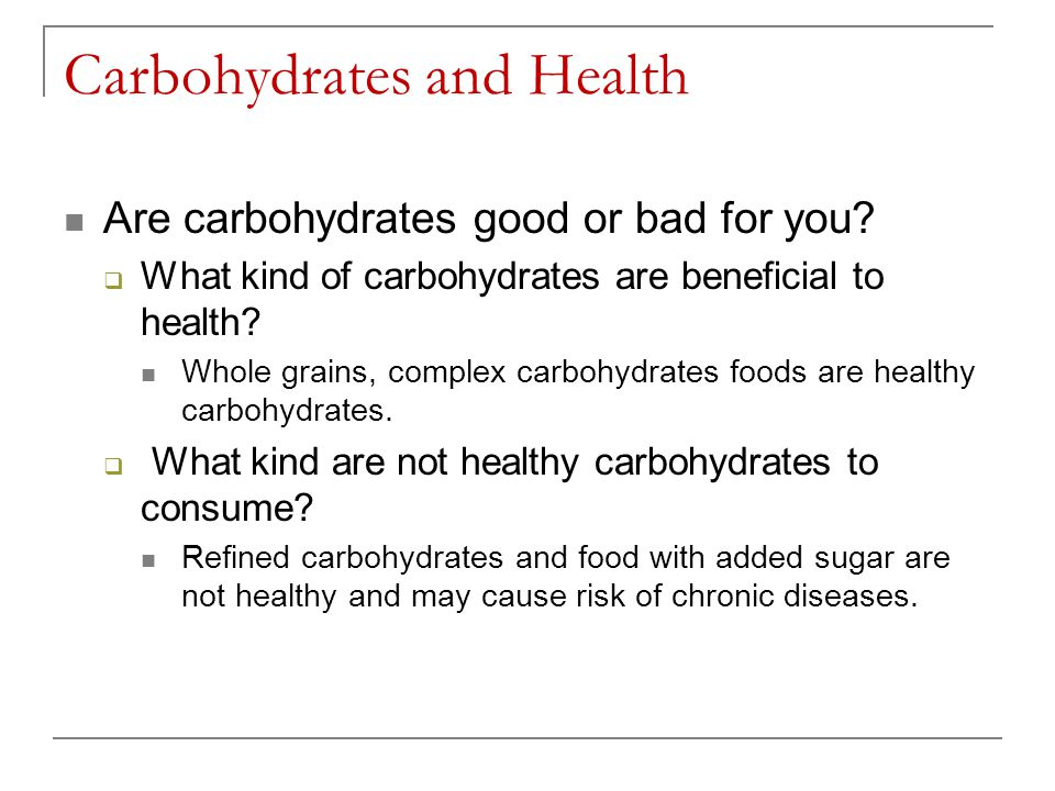 Carbohydrates and Health