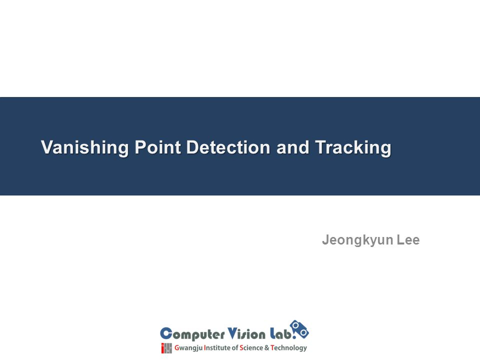 Vanishing Point Detection and Tracking