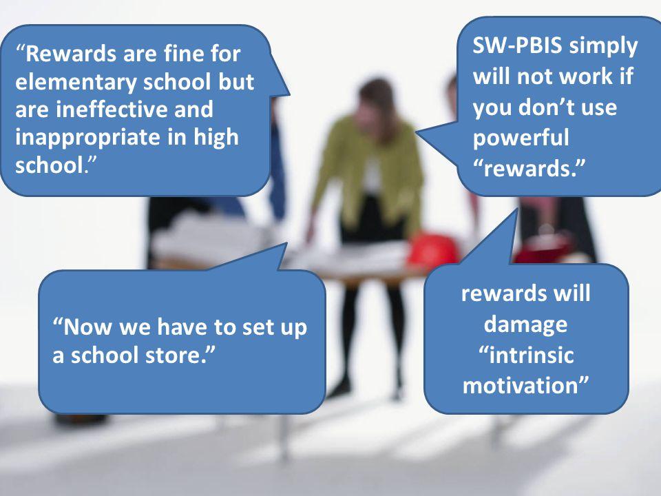 rewards will damage intrinsic motivation