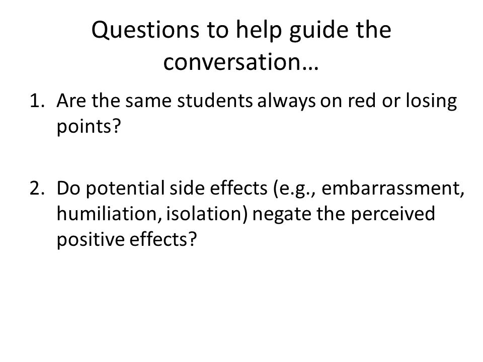 Questions to help guide the conversation…