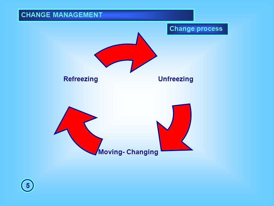 CHANGE MANAGEMENT Change process 5