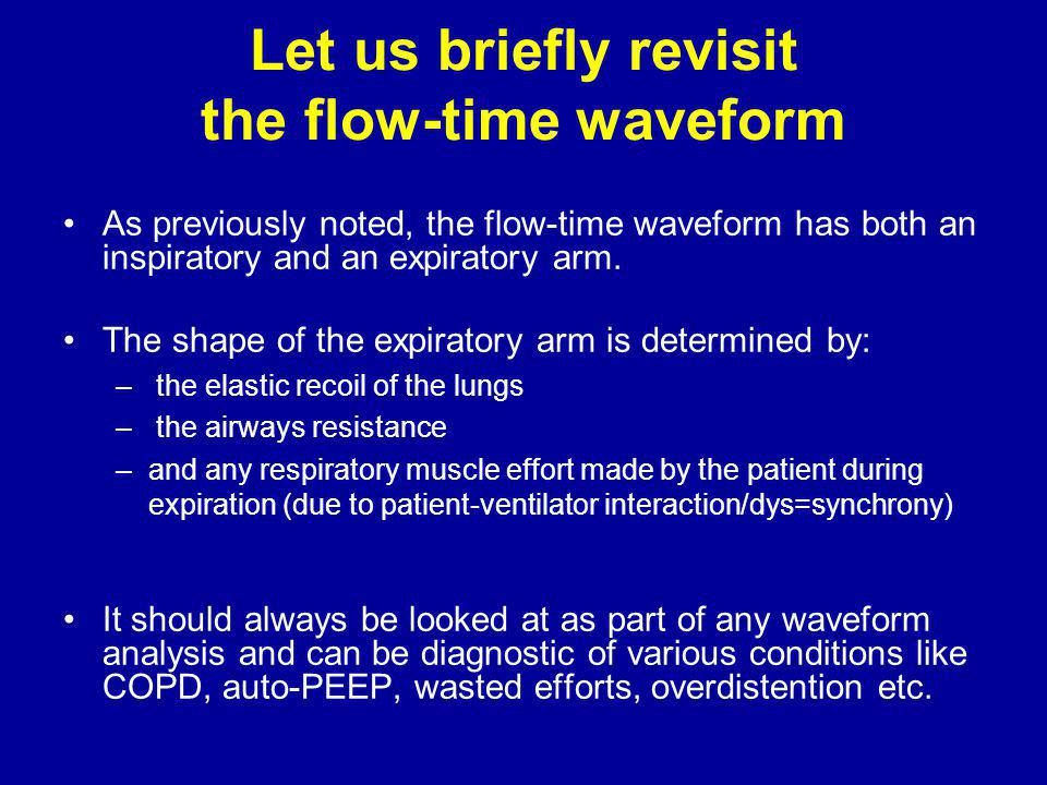 Let us briefly revisit the flow-time waveform
