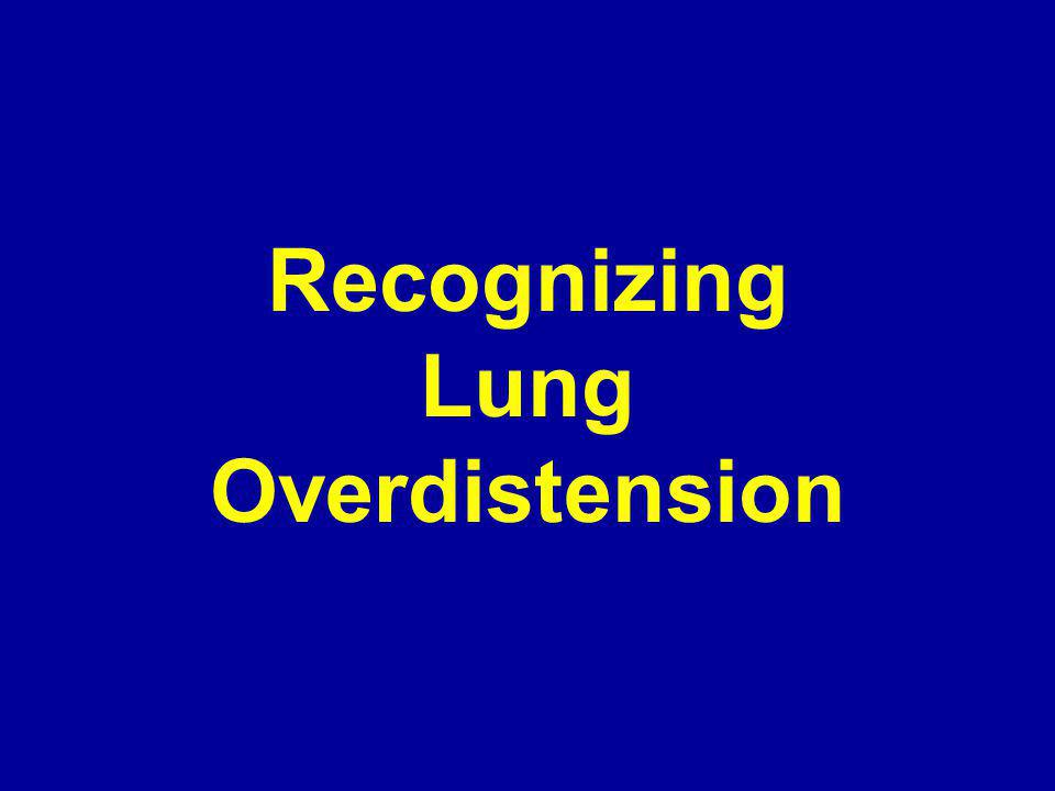 Recognizing Lung Overdistension