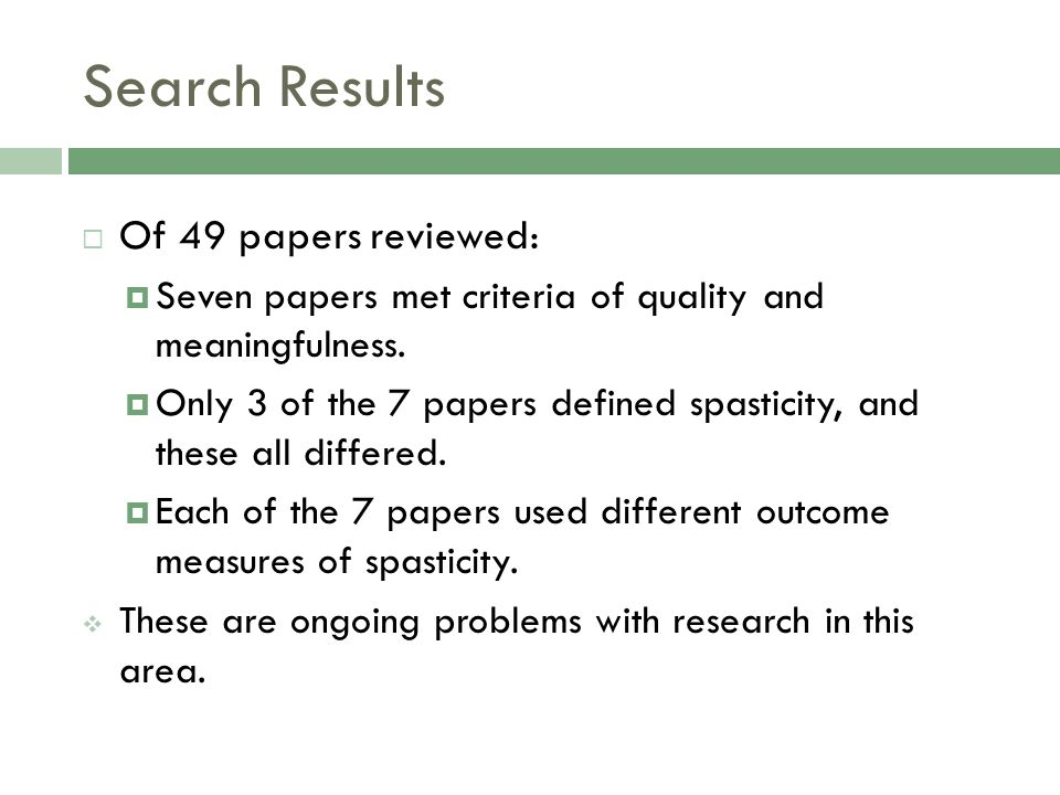 Search Results Of 49 papers reviewed: