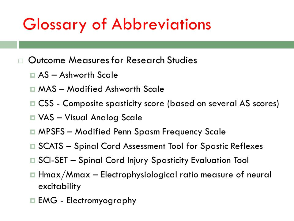 Glossary of Abbreviations