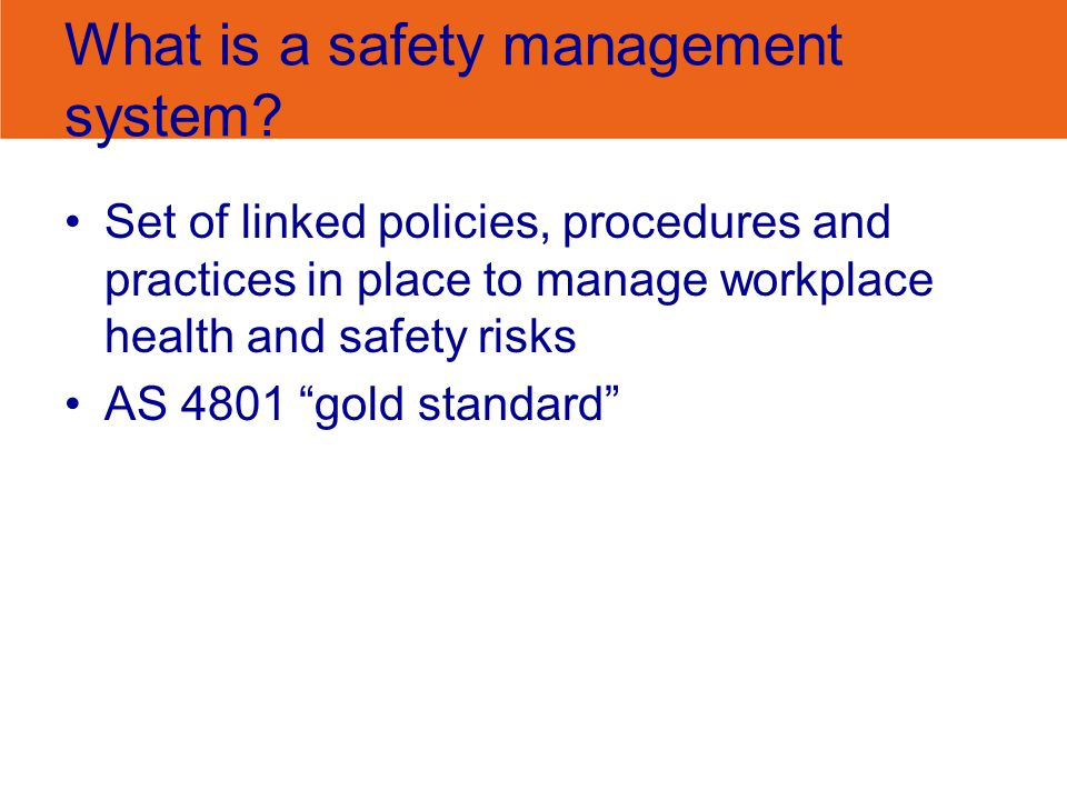 What is a safety management system