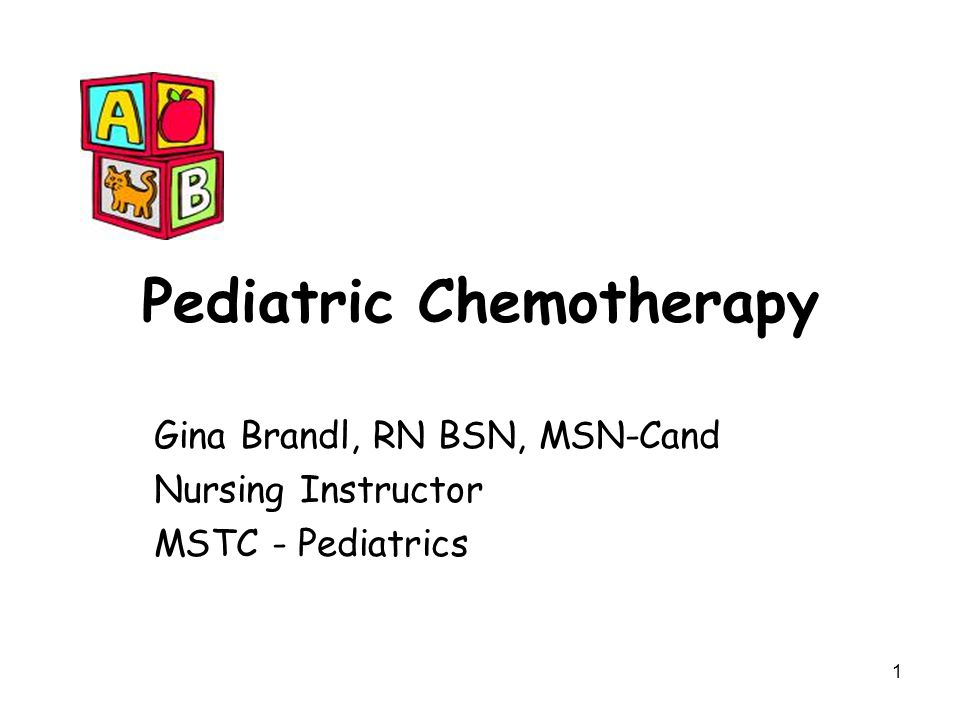 Pediatric Chemotherapy