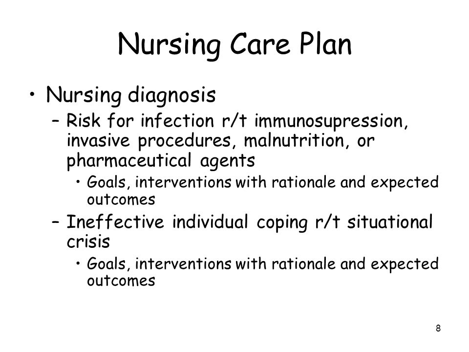 Nursing Care Plan Nursing diagnosis