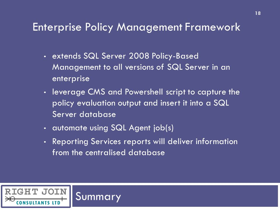 Enterprise Policy Management Framework