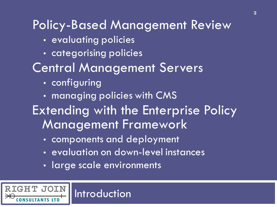 Policy-Based Management Review Central Management Servers