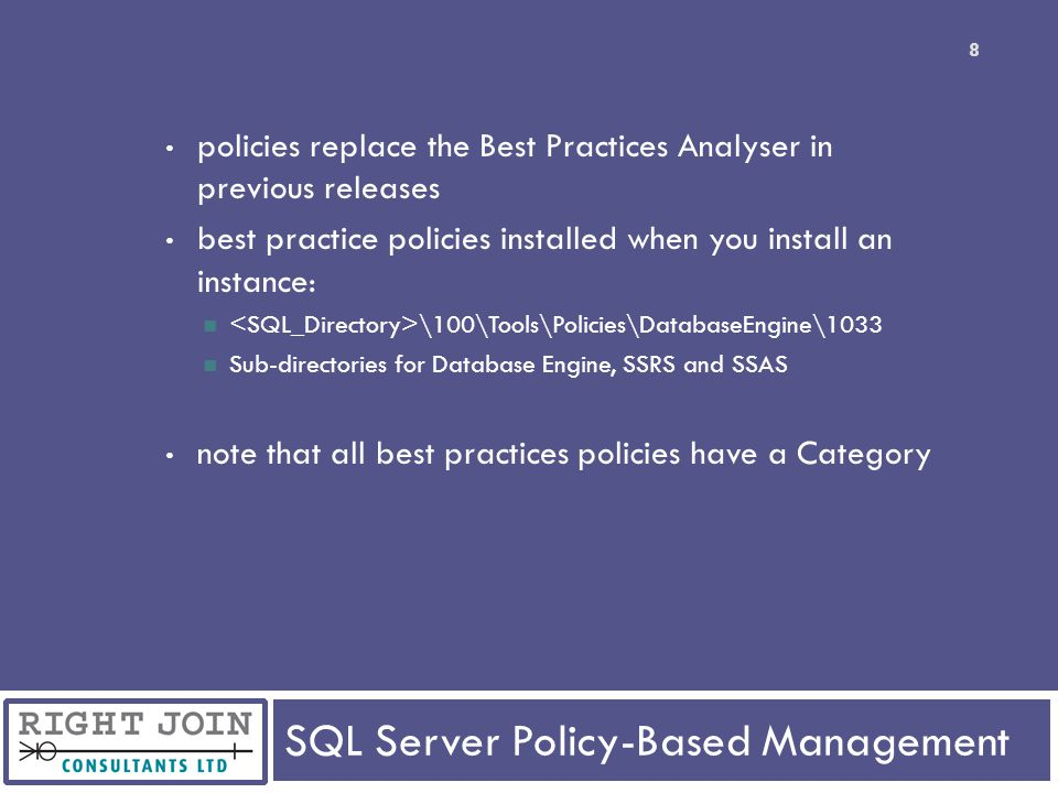 SQL Server Policy-Based Management