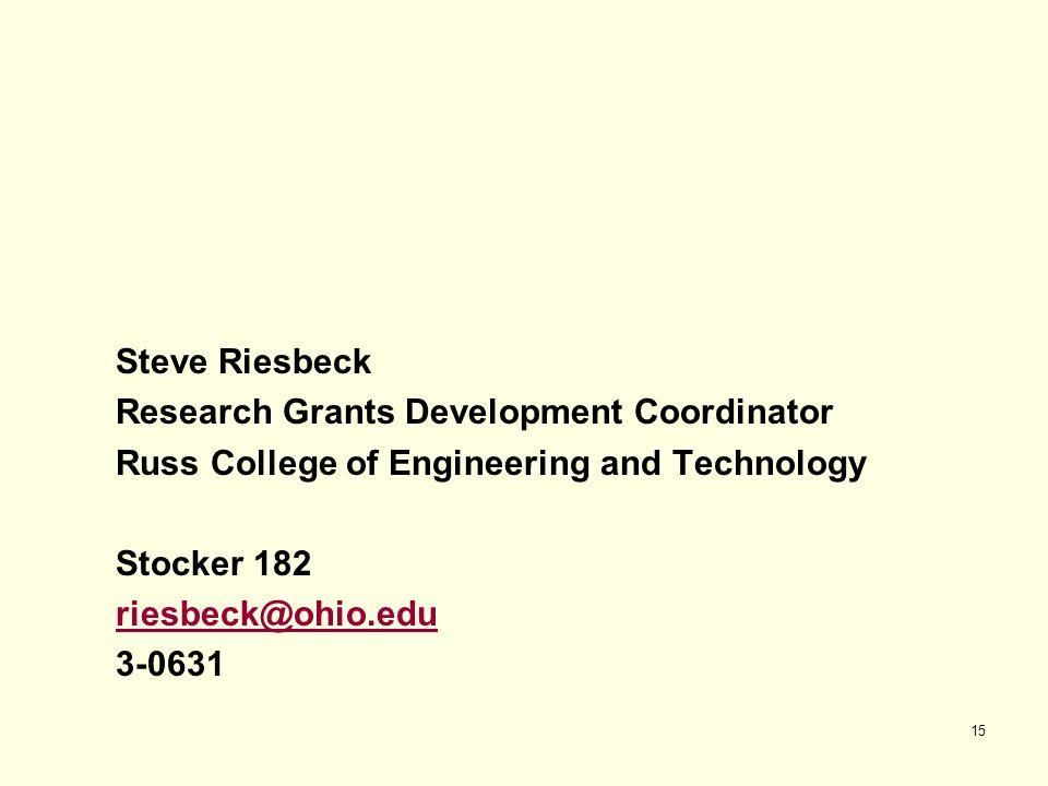 Research Grants Development Coordinator