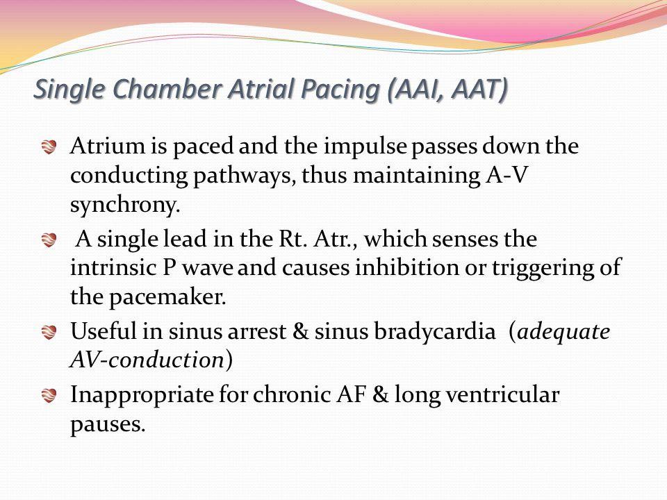 Single Chamber Atrial Pacing (AAI, AAT)